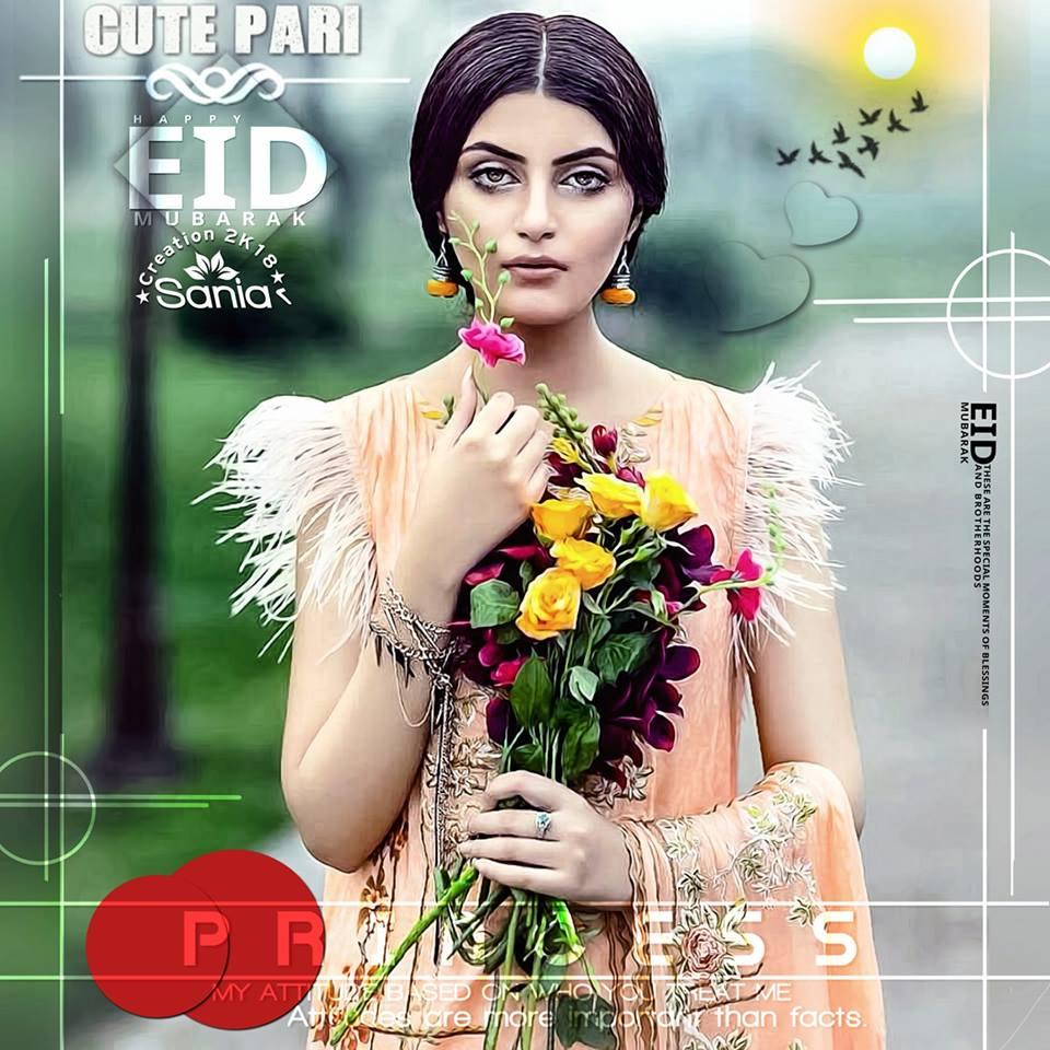 Cute Pari Eid Mubarak Pic For Girls 2019