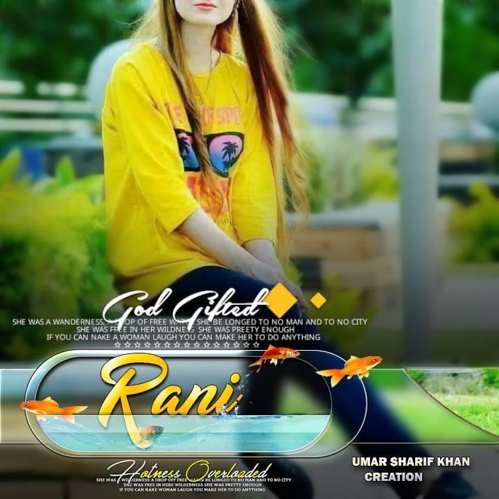 Cute rani name stylish dp for girls