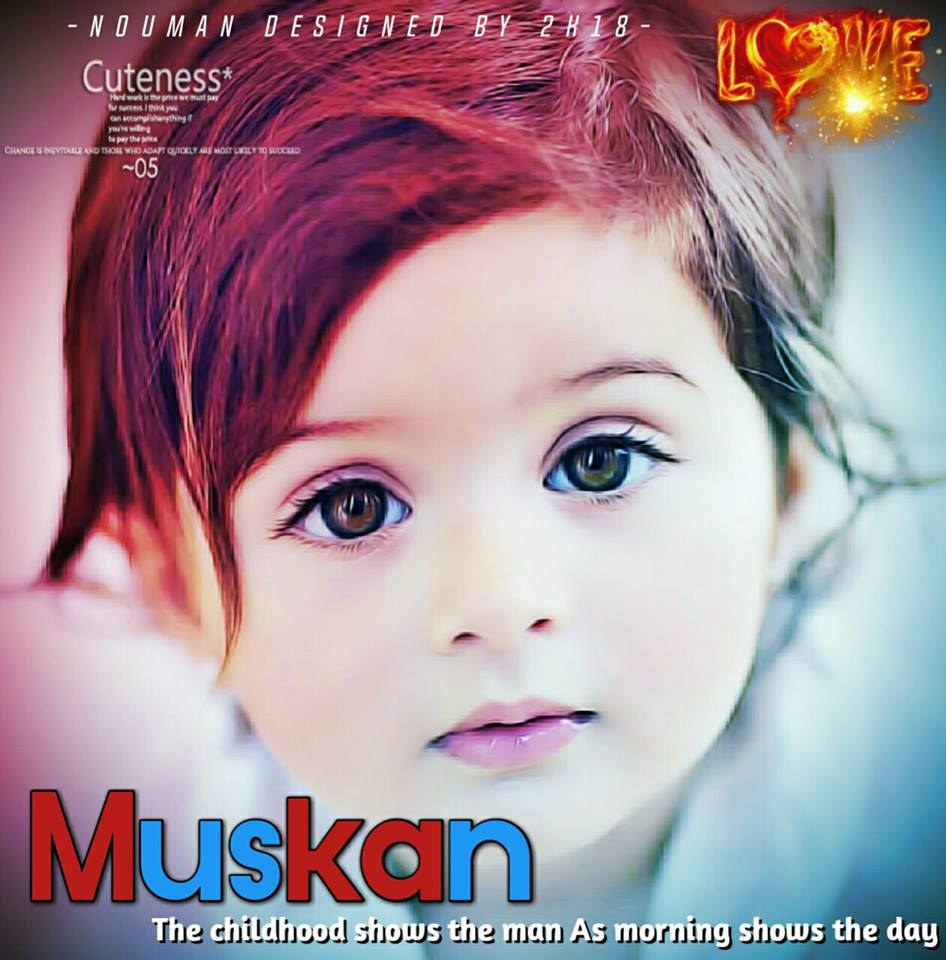 cute muskan name dp for girls